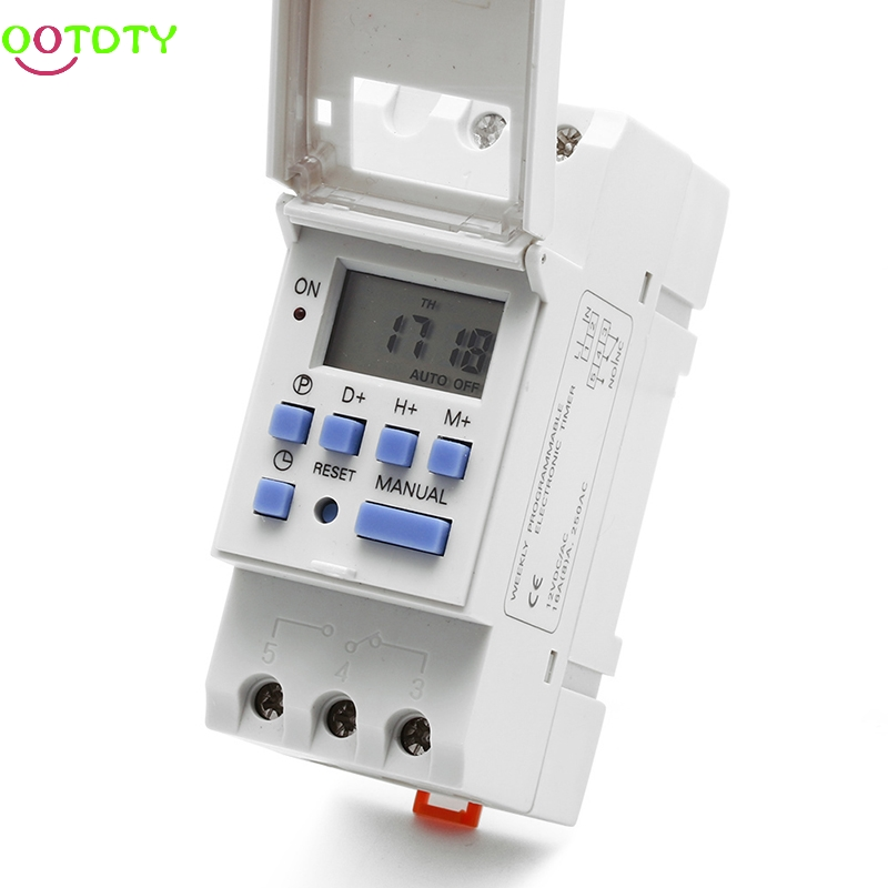 New DIN Rail Time Relay Switch Digital LCD Power Programmable Timer DC 12V  828 Promotion dc 12v led display digital delay timer control switch module plc automation new 828 promotion
