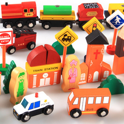 Wooded City Traffic Building Blocks Scenes Toys For Children Baby Pretend Play Traffic Toys Colorful Geometry Educational Toys pizza balance game pile up balancing desktop toy pretend play food small family plastic building blocks toys for children