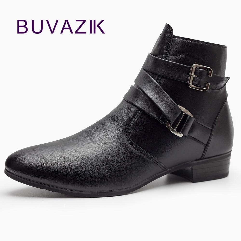 2017 Fashion Men Shoes Soft Leather Autumn Boots Men Waterproof Warm Shoes Men Comfortable Ankle Boots Man