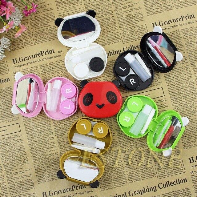 Открытый Panda Форма Travel Kit Хранения Контактных Линз Дело Box Контейнер Организатор