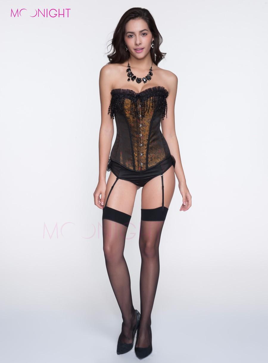 A0811 corset+7080black panty