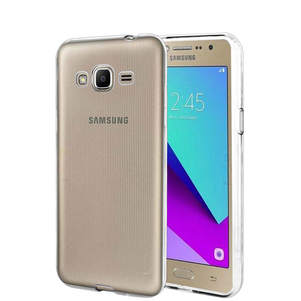For <font><b>Samsung</b></font> <font><b>Galaxy</b></font> J2 2017 <font><b>J200</b></font> Clear <font><b>Case</b></font> Soft TPU Silicone <font><b>Case</b></font> Crystal Transparent Slim Anti-Slip <font><b>Case</b></font> Back Cover Shock-proof image