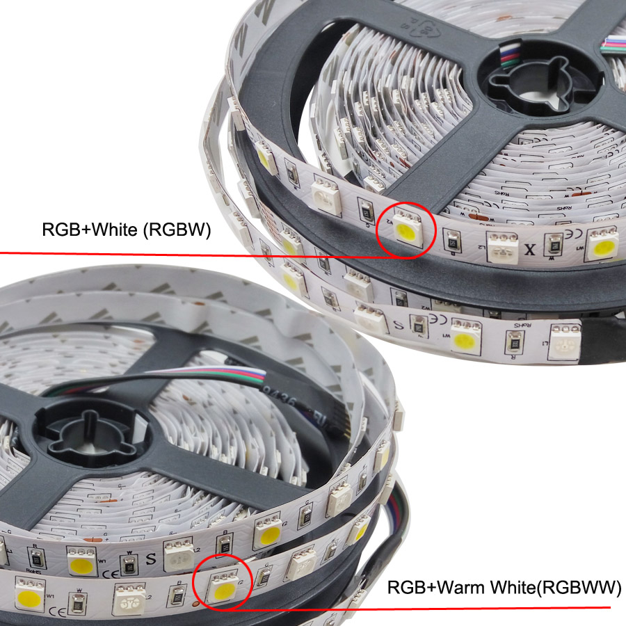 5050 RGBW/WW светодиодные полосы света wifi контроллер неоновая лампа 20 м полосы Декор гибкая лента Тира Диодная лента DC 12 V адаптер Набор - 3