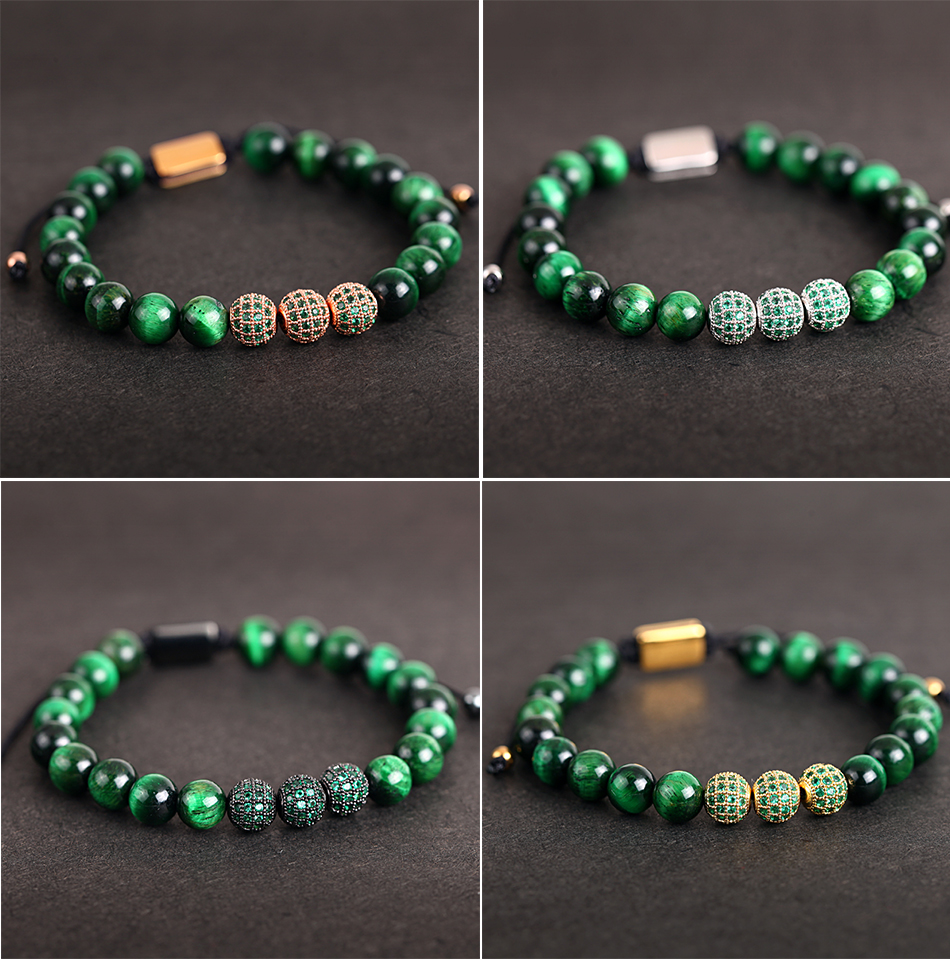 HTB1a_TFMHvpK1RjSZPiq6zmwXXay Crown Ball Pave Setting Zircon Beads Braided Bracelet Bangle Jewelry