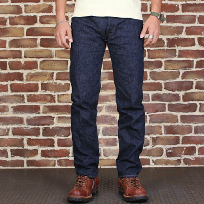 801XX Bronson 15oz Indigo Selvage Sanforised Mens Indigo Selvage Washed Redline Raw Denim Jean