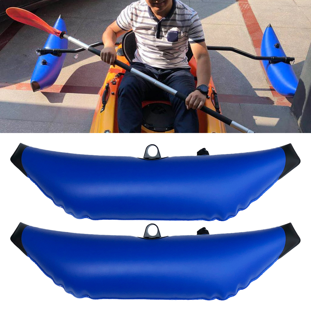 2Pcs/lot  PVC Kayak Canoe Inflatable Outrigger Fishing Boat SUP Standing Stabilizer Kit Gear Equipment Kayak Boat Canoe Floating