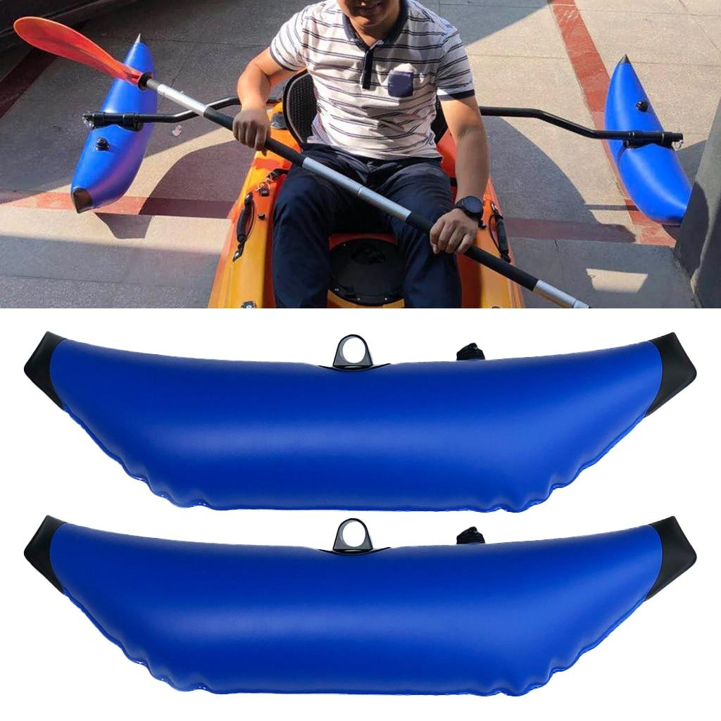 2Pcs/lot  PVC Kayak Canoe Inflatable Outrigger Fishing Boat SUP Standing Stabilizer Kit Gear Equipment Kayak Boat Canoe Floating