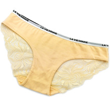 High Quality Cotton Low Waist Fashion Women Girl Underwear Intimates Lace Panties Sexy Ladies Letter Belt Brie
