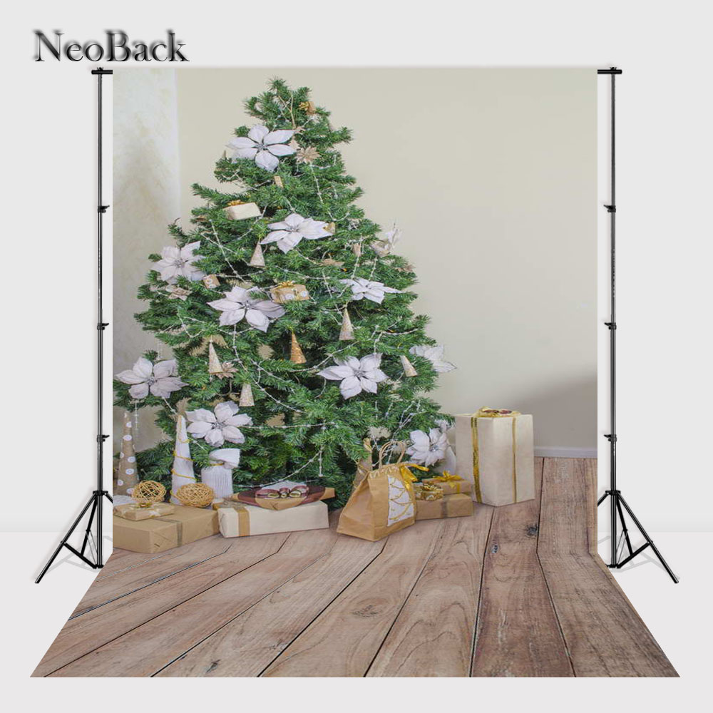 NeoBack    New 5X7ft  baby Christmas gifts backdrop  Printed vinyl fireplace photography background photo studio A1118 allenjoy christmas backdrop tree gift chandelier fireplace cute professional background backdrop for photo studio