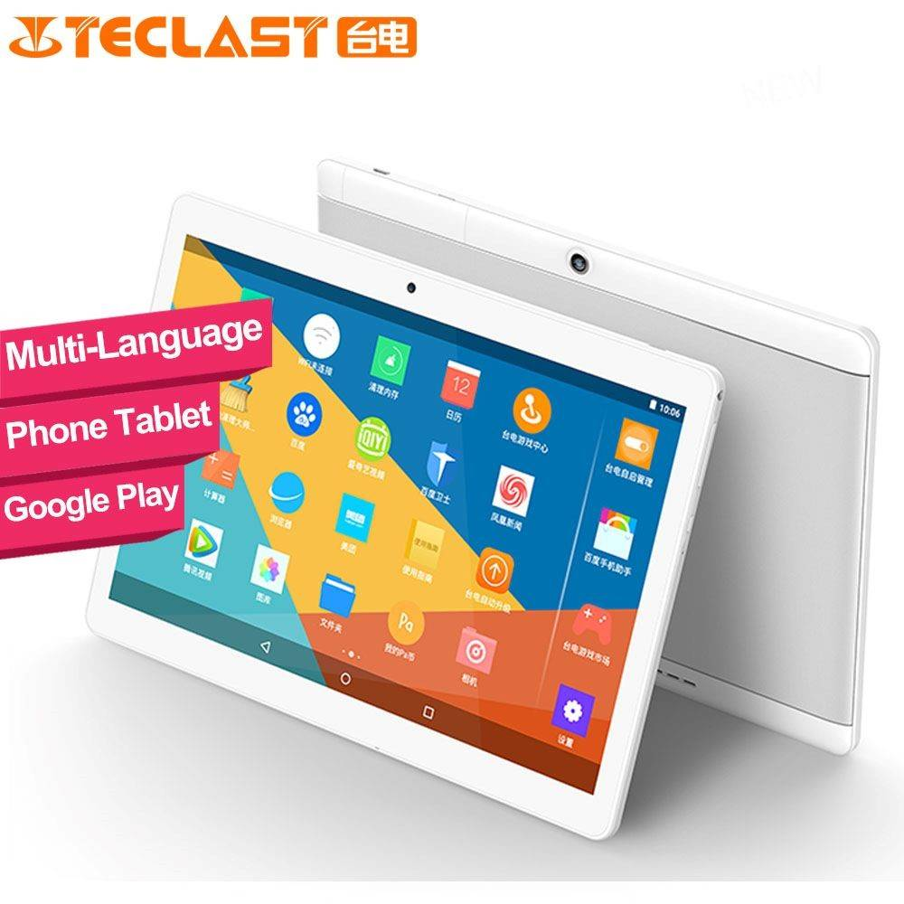 Teclast X10 Quad Core Phone Call Tablet PC Android6.0 MTK MT6580 10.1 Inch1280x800 IPS 1GB Ram 16GB ROM GPS