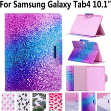 цены на Tablet Cover Case for Samsung Galaxy Tab4 Tab 4 10.1 T530 T535 T531 Pu Leather Magnet Smart Case for Samsung Tab 4 10.1 with Pen  в интернет-магазинах