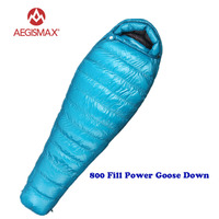 AEGISMAX New M3 Lengthened Ultralight Sleeping bag Outdoor Camping Hiking keep Warm 95% White Goose Down Mummy Sleeping Bag