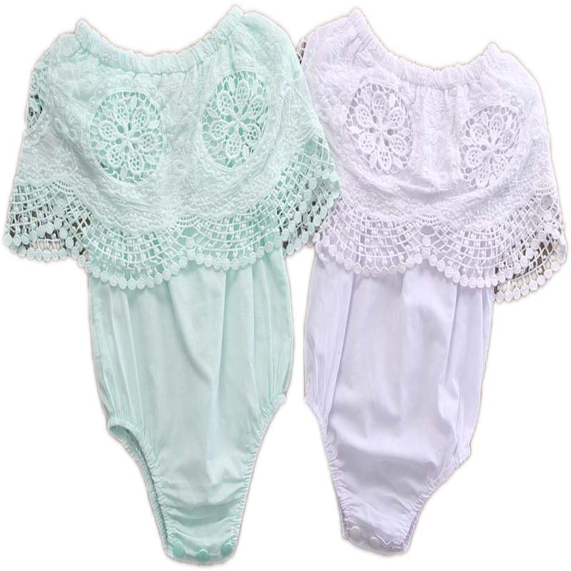 Summer Baby Girl Romper Toddler Newborn Infant Girls Clothes Ruffle Lace Sleeve Romper Retro crochet Jumpsuit Outfir baby girl 1st birthday outfits short sleeve infant clothing sets lace romper dress headband shoe toddler tutu set baby s clothes