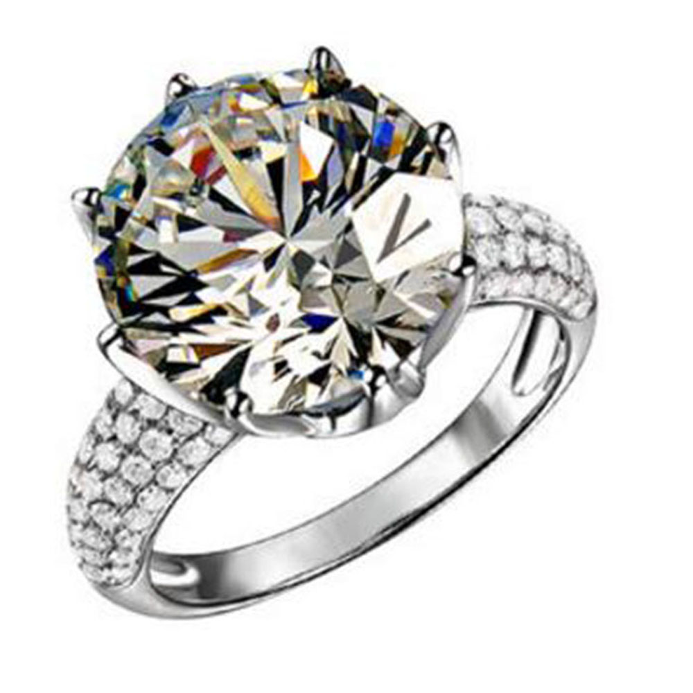 BFQ New Fashion S925 Sterling Silver Diamond Ring