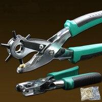 2pcs/set punch plier Duty Leather Hole Punch Hand Pliers Belt Holes Punches