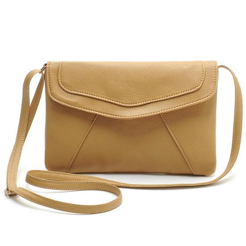 Vintage Leather Handbags Hot Sale Women Envelope Clutches Ladies Party Purse Famous Designer Crossbody Shoulder Messenger Bags