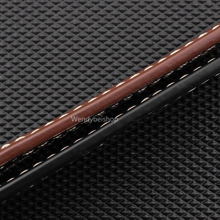 CARLYWET 22 24 26mm Schwarz Braun Echtes Leder Handgemacht Dickes - Uhrenzubehör - Foto 6