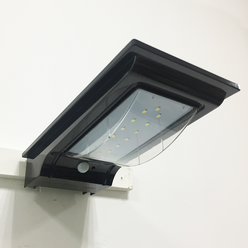 Replace Garage Lights With Led: 14PCS LED Solar Wall Light Waterproof Outdoor Motion