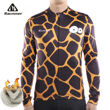 Racmmer 2018 Winter Thermal Fleece Cycling Jersey Mens MTB Bicycle Clothing  Tops Long Sleeve Bike Shirts 6905fe688