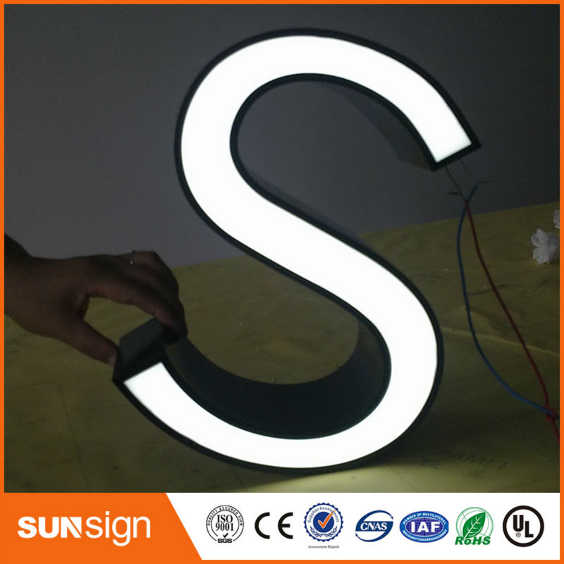 Brand Shop Frontlit Led Logo Signage High Luminous Frontlit Acrylic Logo Sign