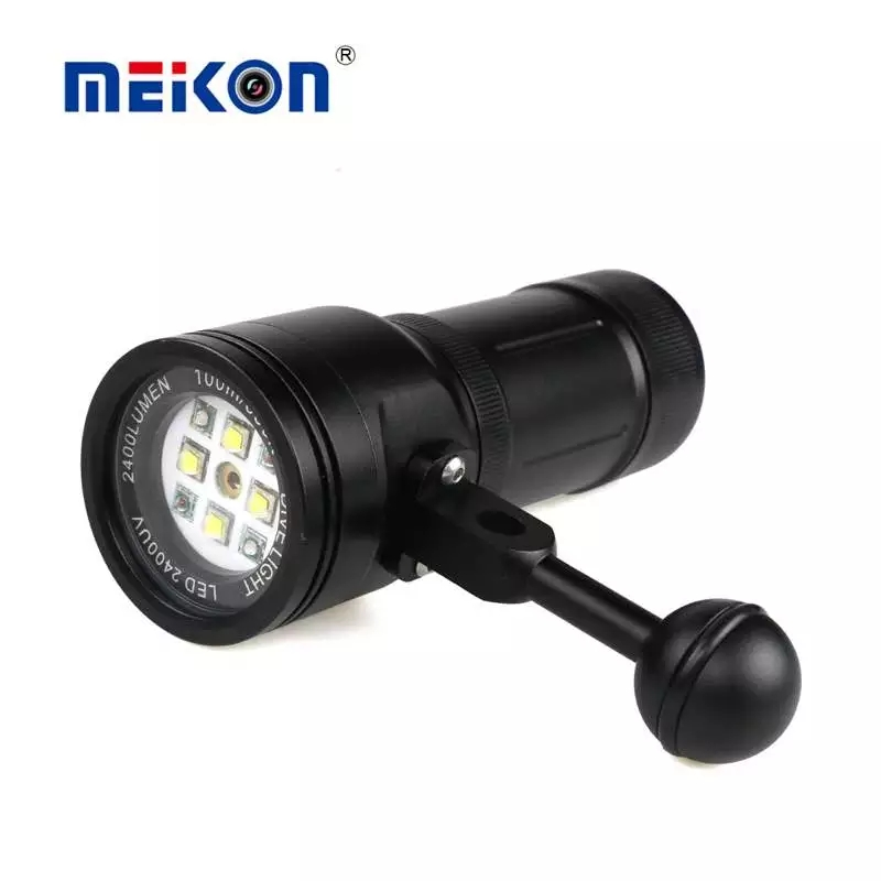 MK 15 Meikon 2400LM Diving Flash Torch Lighting Light with Laser for Underwater Waterpoof Video Camera