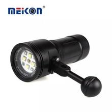 MK-15 Meikon 2400LM Plongée Flash Torche Éclairage Lumière avec Laser pour Sous-Marine Waterpoof Vidéo Caméra Photographie Sous-Marine