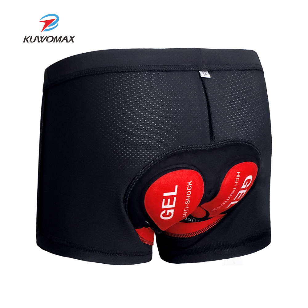 2019 KUWOMAX Cycling Jersey Men Bicycle Mountain MTB Shorts Pro 5D Gel Pad Shockproof Cycling Underpant to 9D Gel Bike Underwear