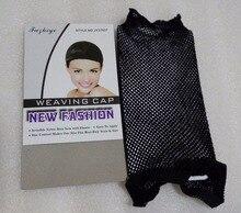 30 pcs/Lot NEW Fashion  Weaving Cap Stretchable Elastic Hair Net Open Top Snood Wig Cap Hairnet Hair Mesh