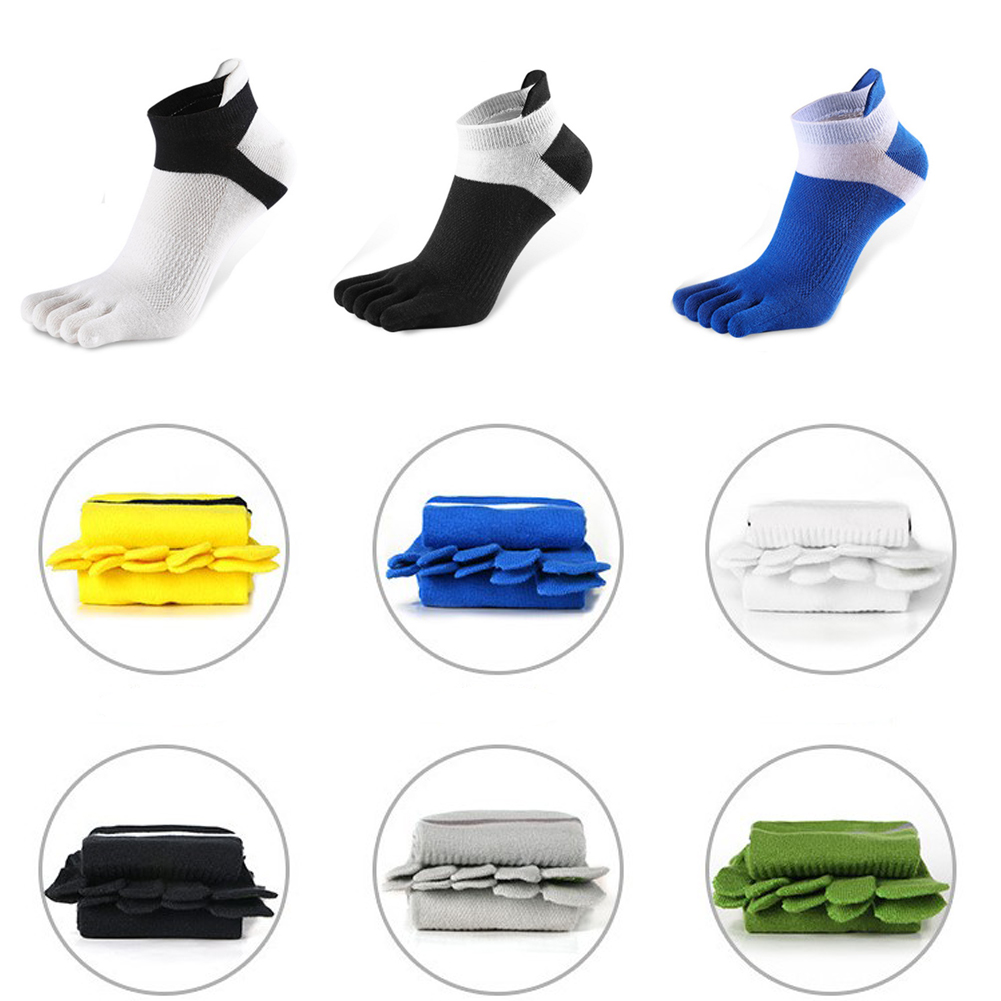 Men's 1 Pair Men Casual Mesh Meias Sports Running Five Finger Toe Socks Casual Cotton Solid Sock Hot Sale Comfortable 2019