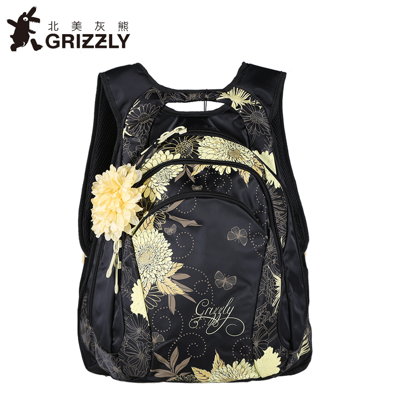 где купить GRIZZLY NEW Women Pretty Backpacks for Teenger Gril High SchoolBags Fashion Waterproof Casual Mochila Large Capacity Travel Bag по лучшей цене