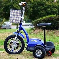 Электрический трицикл мини citycoco электрический самокат 36 В 450 Вт взрослых e скутер с тремя колесо для Для мужчин Для женщин старейшин