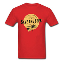 Save The Bees T-shirt 2019 Men Tshirt Letter Red T Shirt Moto Biker Racer Tops MMA Cotton Tees Pollinators Spring 3XL Clothing pollination efficiency of honey bees and other pollinators in cotton
