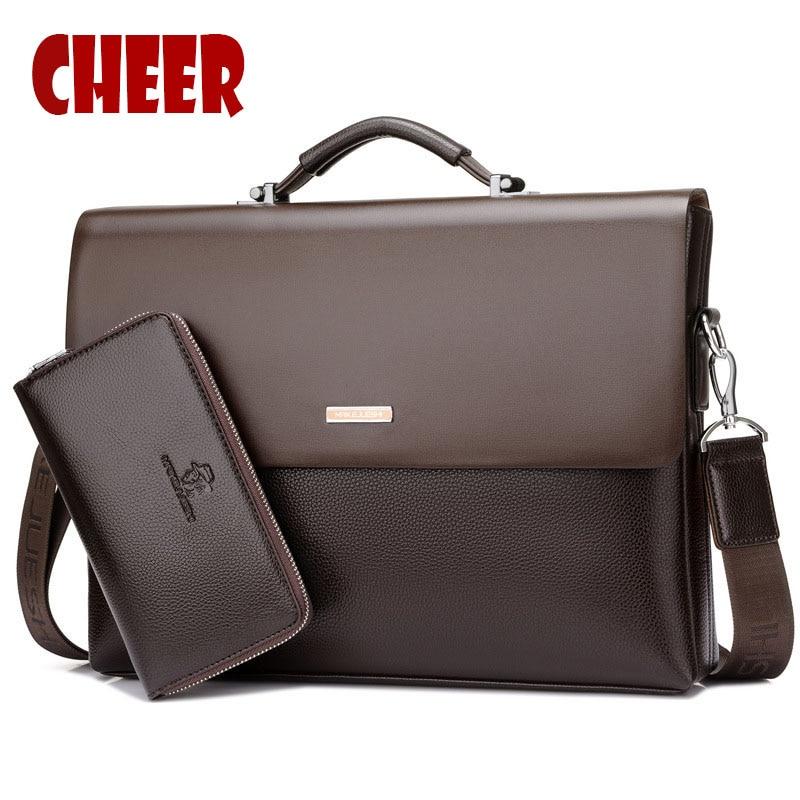 2017 new fashion men bag High capacity handbag Messenger bags Business briefcase Designer high quality Laptop bag shoulder bag все цены
