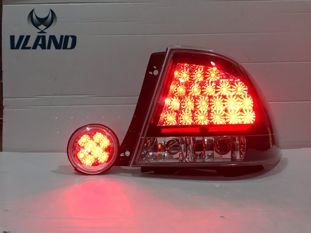 Free Shipping for Vland Car LED Tail lamp for Lexus IS200 LED DRL Brake Taillights Plug and Play fit for IS200 Year 1998-2005 car styling tail lights for toyota highlander 2015 led tail lamp rear trunk lamp cover drl signal brake reverse
