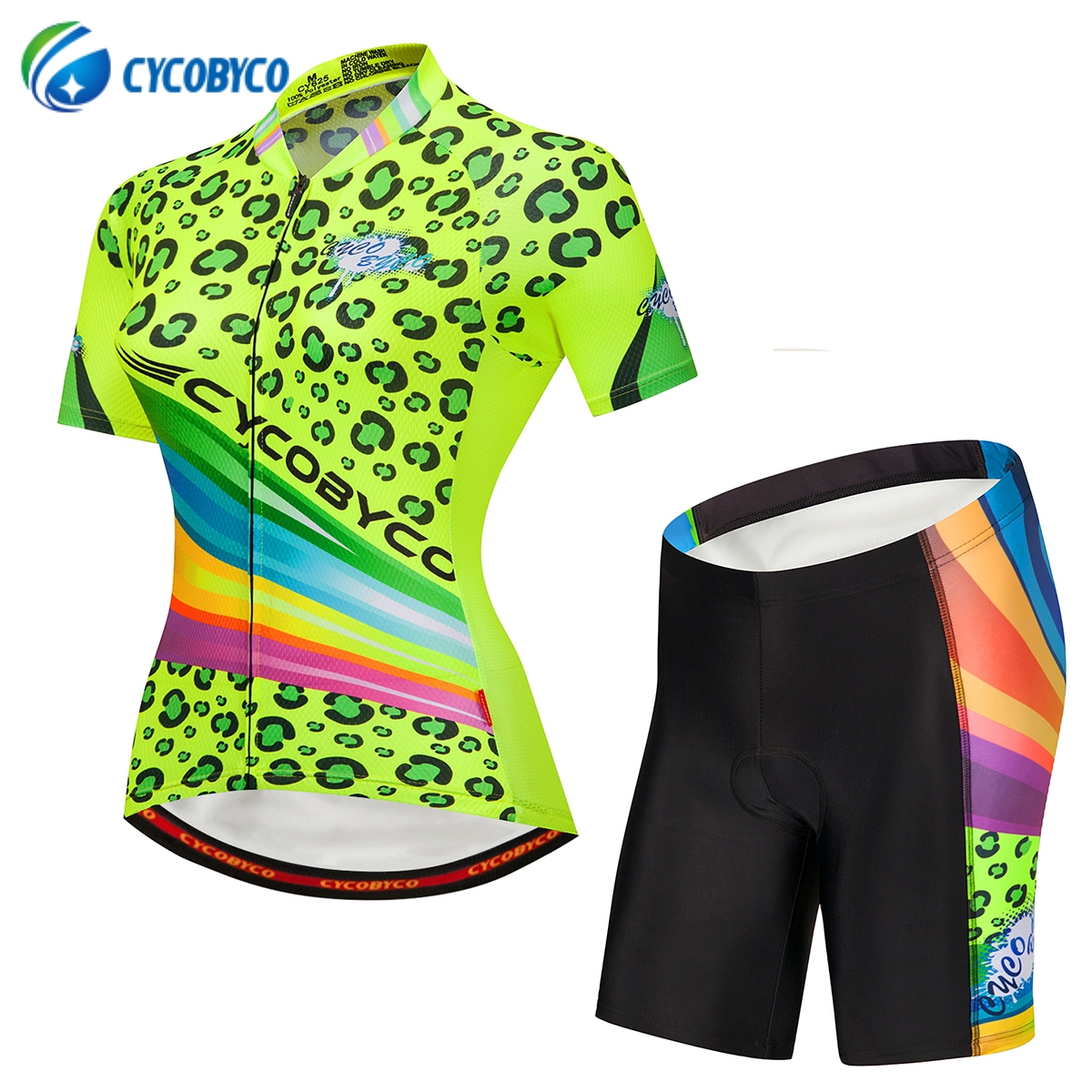Cycobyco Cycling Jersey Short Sleeve Set Women MTB Bike Clothing Road Bicycle Shorts Padded Pants Maillot Ropa Ciclismo SummerCycobyco Cycling Jersey Short Sleeve Set Women MTB Bike Clothing Road Bicycle Shorts Padded Pants Maillot Ropa Ciclismo Summer