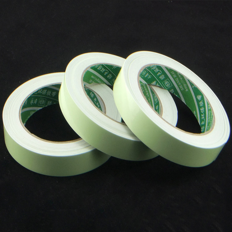 Image 5 - 3m 15mm Luminous Tape Self Adhesive PET Warning Tape Night Vision Glow In Dark Wall Sticker Fluorescent Emergency  Sticker A25-in Wall Stickers from Home & Garden