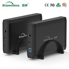 3.5 «Металл Мобильный Корпус HDD SATA USB 3.0 для рабочего жесткий диск Box Тип-C/USB-B 3.0 большая емкость для 6 ТБ случае HD 3.5 в наличии