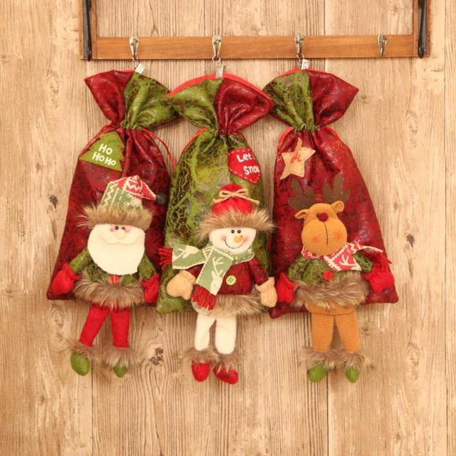 santa claus snowman elk christmas candy packaging christmas candy christmas decorations for home kerst decoratie - Candy Christmas Decorations