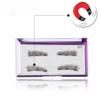 1 Set Handmade Thick Black Full Strips Magnetic False Eyelashes Reusable Magnet Eye Lashes No Messy Makeup Extension Tools False Eyelashes