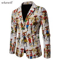 Casual african clothes printed suit jacket africa clothing fashion dashiki robe africaine hip hop african dresses for women/men