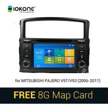 IOKONE Car DVD Video Player GPS navi Stereo multimedia for Mitsubishi Pajero V97 V93 2006-2011 With Bluetooth SWC iPOD  SD card