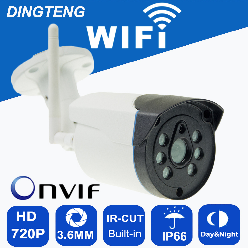 Onvif WIFI TF Card Slot IP Camera HD 720P/960P IR night vision Wireless alarm Surveillance Security CCTV Cam P2P Bullet Kamera vstarcam c7816wip onvif hd 720p wireless p2p ir cut night vision tf card slot outdoor waterproof network wifi cctv ip camera