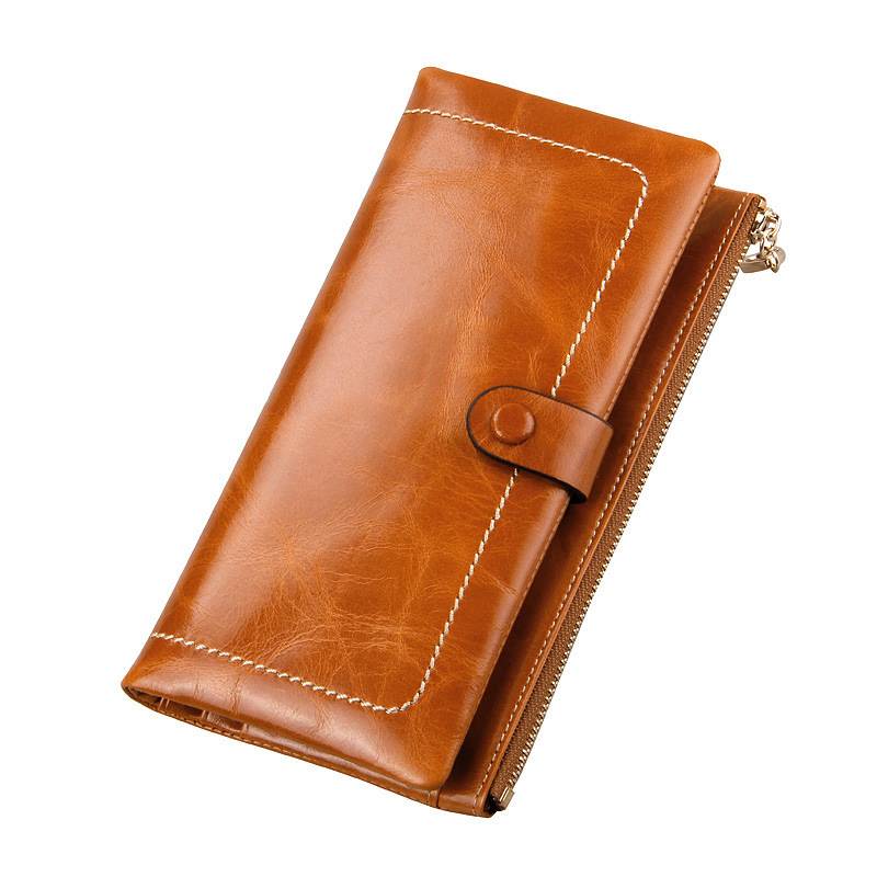 High Quality Cowhide Women Wallets 2015 Fashion Card Holders Designer Brand Cartera  Zipper Genuine Leather Wallet Women Purse