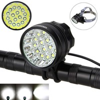 60000Lumens 2 In 1 Headlight 16x XM L T6 LED Bicycle Bike Light Lamp Torch Battery