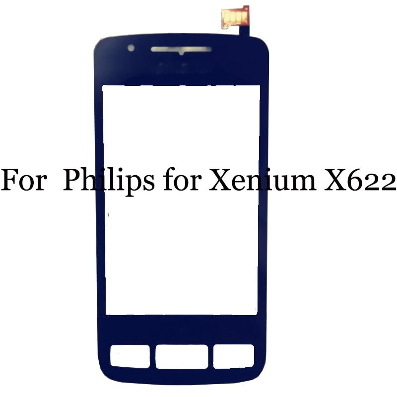 2 pcs Para Philips para X622 Substituição do Sensor de Toque Digitador Da Tela Para Philips Xenium X 622 do painel de toque com cabo flexível cabo