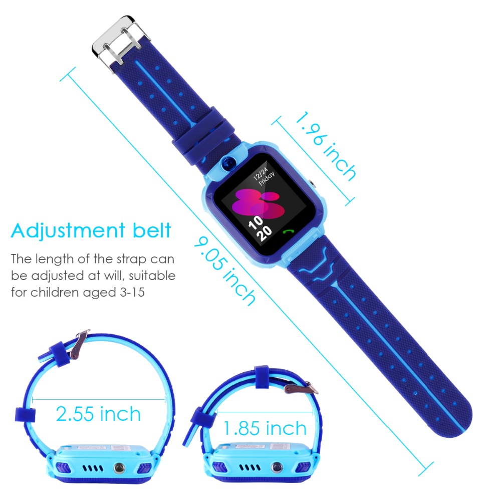 High Quality Newest Waterproof Tracker Smart Kids Child Watch Anti-lost SOS Call Smart Watch For iOS Android 22