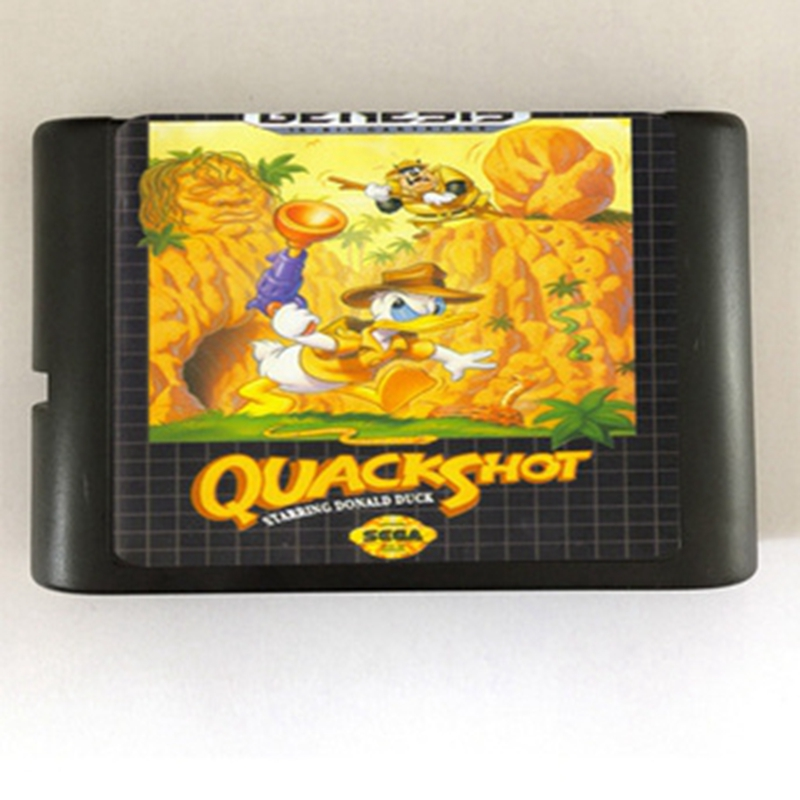 Quack Shot Game Cartridge Newest 16 bit Game Card For Sega Mega Drive / Genesis System mickey mouse castle of illusion