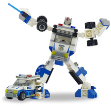 New 2in1 Fire Brigade Keeper Transformation Blocks Brinquedos Kids Anime Classic Toys Boy's Gift