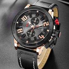 Top Brand Mens Watches Relogio Masculino Curren Men Military Sport Analog Quartz Watch Waterproof Leather Strap Black Male Clock curren top brand men fashion chronograph quartz watches men s leather military sport wrist watch male 24 hours date analog clock