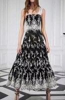 2019 Новое сексуальное элегантное модное Черное Длинное Платье Макси женское летнее платье до щиколотки без рукавов с принтом Бесплатная дос